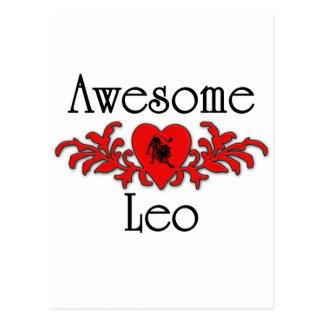 Awesome Leo Postcard