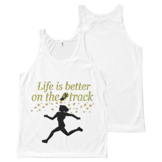 AWESOME LIFE IS BETTER ON THE TRACK DESIGN All-Over-Print TANK TOP
