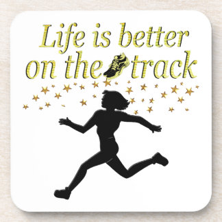 AWESOME LIFE IS BETTER ON THE TRACK DESIGN COASTER