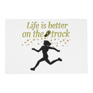 AWESOME LIFE IS BETTER ON THE TRACK DESIGN PLACEMAT