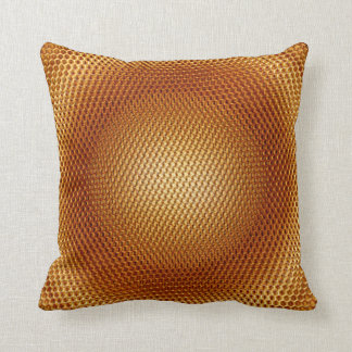 Awesome Light and dark gold colour tones metal Throw Pillow