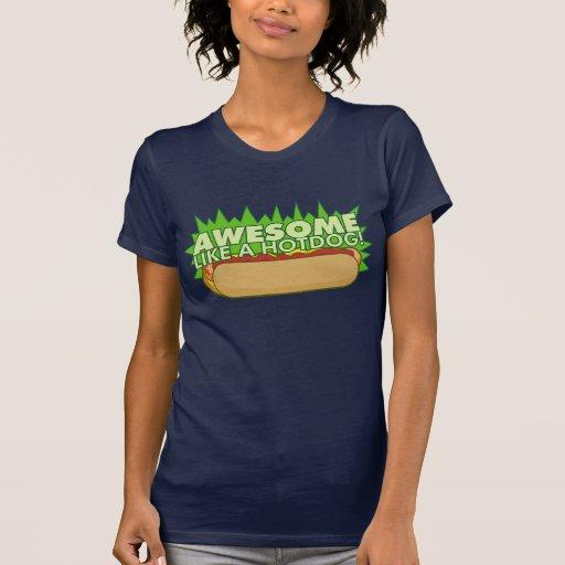 Awesome Like a Hot Dog Shirt 2