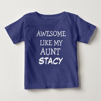 Awesome like my aunt custom name baby boy shirt