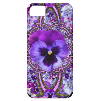 AWESOME LILAC PURPLE PANSIES GARDEN ART iPhone SE/5/5s CASE