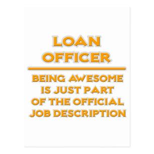 Awesome Loan Officer .. Job Description Postcard