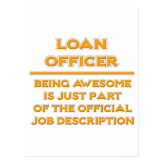 Awesome Loan Officer .. Job Description Postcard