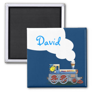Awesome Locomotive | Coo coo 2 Inch Square Magnet
