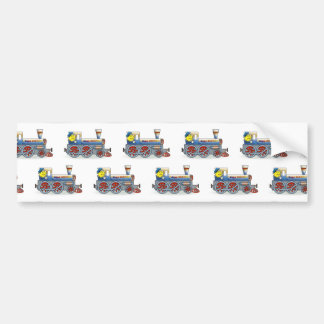 Awesome Locomotive pattern - bumper stickers