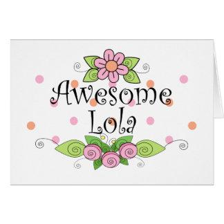 Awesome Lola T-Shirt Card