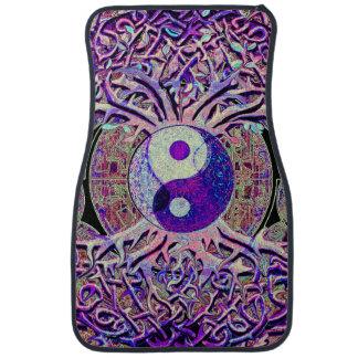 Awesome Looking Yin Yang Tree Car Floor Mat