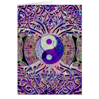 Awesome Looking Yin Yang Tree Card