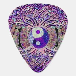 Awesome Looking Yin Yang Tree Guitar Pick