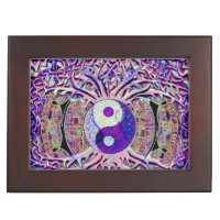 Awesome Looking Yin Yang Tree Keepsake Box