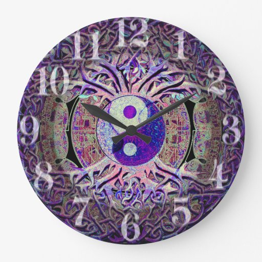 Awesome Looking Yin Yang Tree Large Clock