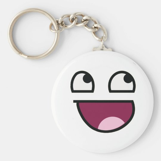 Awesome Lulz Smiley Face Keychain