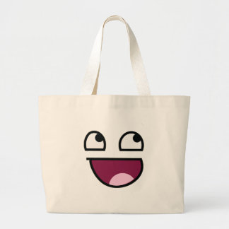 Awesome Lulz Smiley Face Large Tote Bag