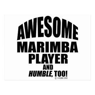 Awesome Marimba Player Postcard