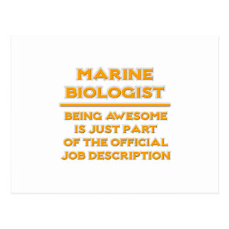 Awesome Marine Biologist .. Job Description Postcard