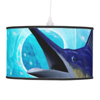 Awesome marlin with bubbles ceiling lamp