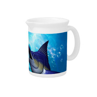 Awesome marlin with bubbles drink pitcher