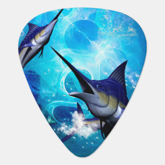Awesome marlin with bubbles guitar pick