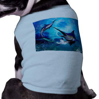 Awesome marlin with bubbles shirt