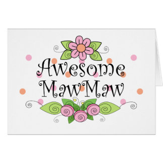 Awesome MawMaw T-Shirt Greeting Card