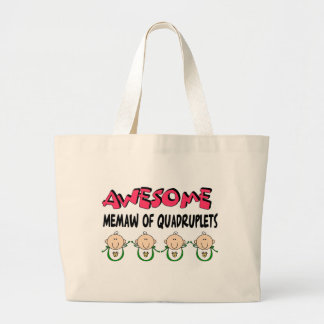 AWESOME MEMAW of QUADRUPLETS Canvas Bags