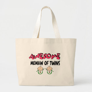 AWESOME MEMAW of TWINS Tote Bags