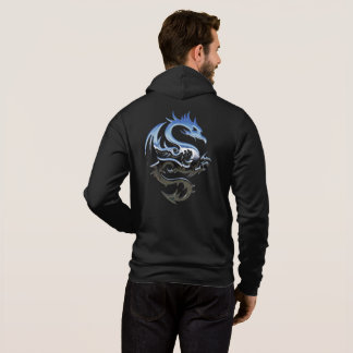 Awesome Men's Full-Zip Hoodie In Dragon Design