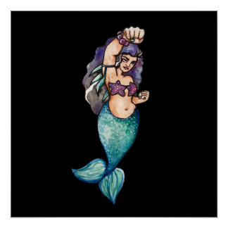 awesome mermaid poster