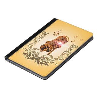 Awesome microphone and clef iPad air case