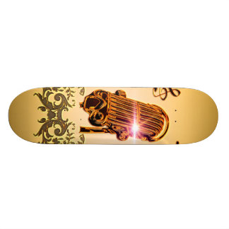 Awesome microphone with clef skateboard deck