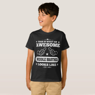 Awesome Middle Brother Looks Like T-Shirt