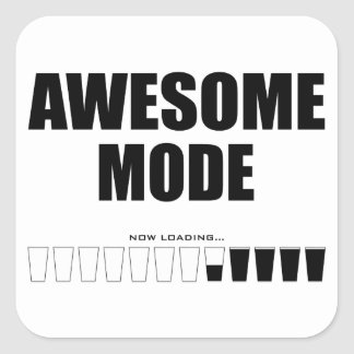 Awesome Mode Loading Square Sticker