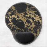 "Awesome modern faux gold glitter black marble gel mouse pad<br><div class=""desc"">Awesome trendy modern faux gold glitter black marble texture image, shining glow yellow gold glitter abstract strokes, black grey faux marble stone, special occasions, texture, Shapes, design, messy, craft, artwork, illustration, custom, young, decorative, modern, creative, summer bright colors, fashion, unique, fresh, luxury, chic, beautiful, pretty, cute, art, popular, awesome, stylish,...</div>"