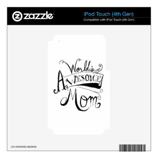 Awesome Mom Decal For iPod Touch 4G