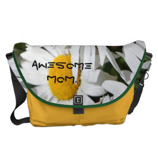 Awesome Mom gifts Messenger Bags unique Daisies