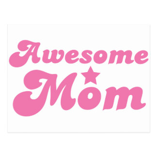 Awesome MOM in pink Postcard