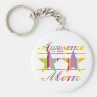 Awesome Mom Keychain