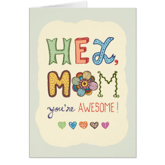 Awesome Mom Mother's Day greeting card