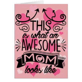 Awesome Mom Mother's Day Typography Card