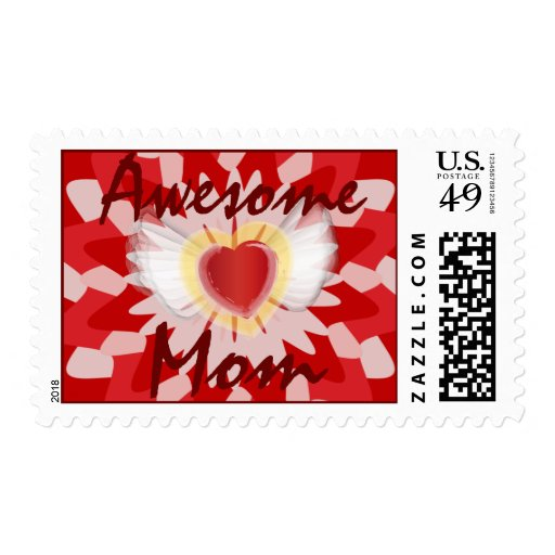 Awesome, Mom Postal Stamp-Customize Stamps