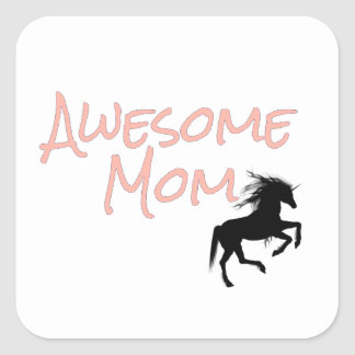 Awesome Mom Square Sticker