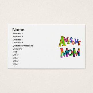 Awesome Mom T-shirts and Gifts Business Card