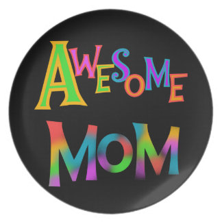 Awesome Mom T-shirts and Gifts Melamine Plate