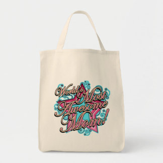 Awesome Mom Tote Bag
