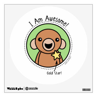 Awesome Monkey Wall Decal