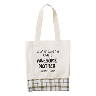 Awesome Mother Zazzle HEART Tote Bag