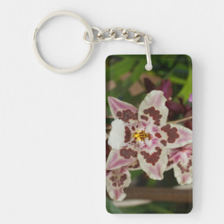 Awesome Multicolored Phalaenopsis Orchid Keychain